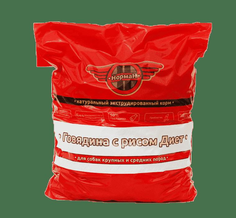Говядина с рисом Диет для крупных и средних пород