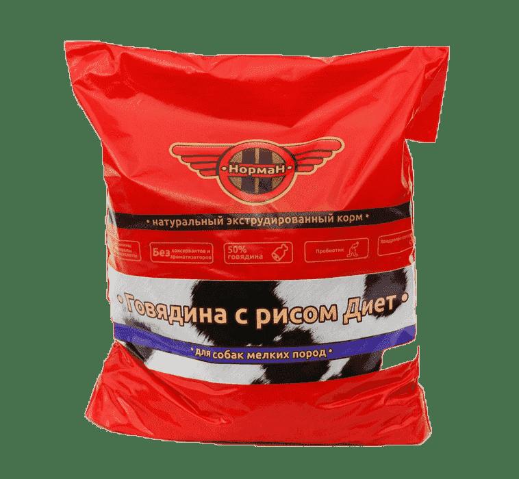 Говядина с рисом Диет для мелких пород