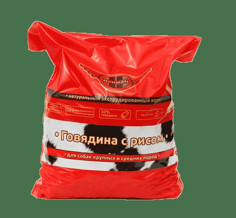 Говядина с рисом для крупных и средних пород