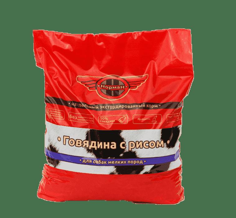 Говядина с рисом для мелких пород